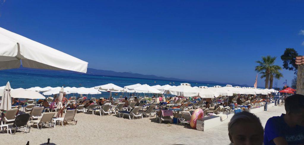 Hanioti beach blue flag