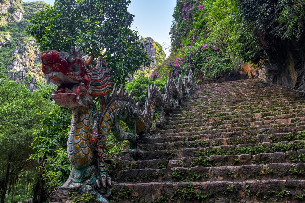 Hang Mua (Mua Cave mountain) steps in Ninh Binh, VietNam