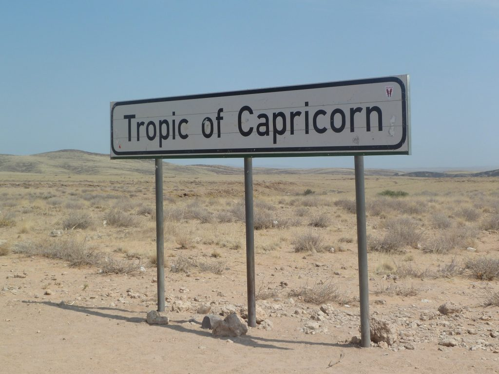 Namibia desert Tropic of Capricorn