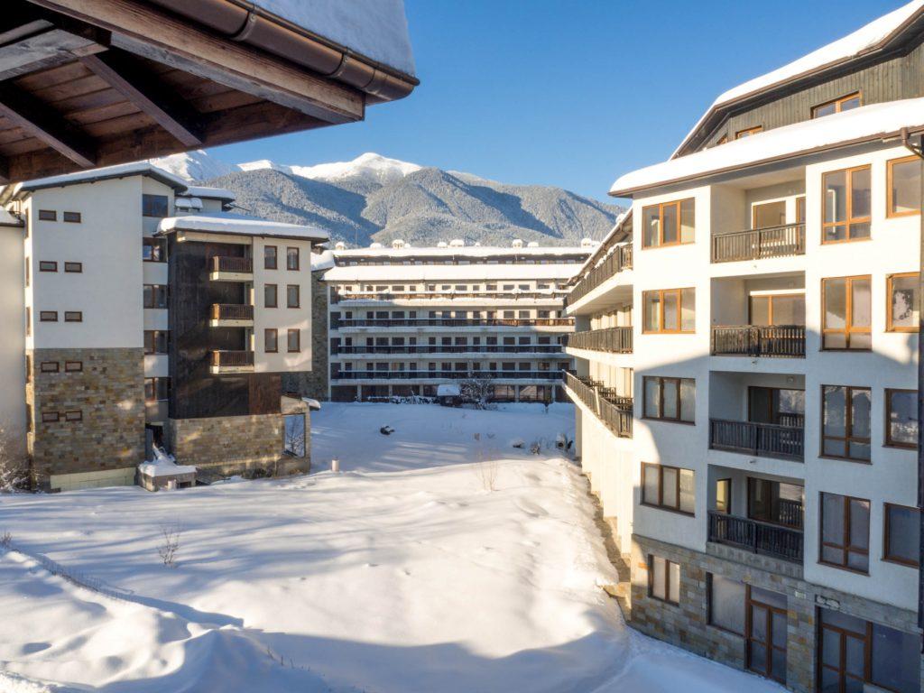 Bansko in January ski resort in Bulgaria
