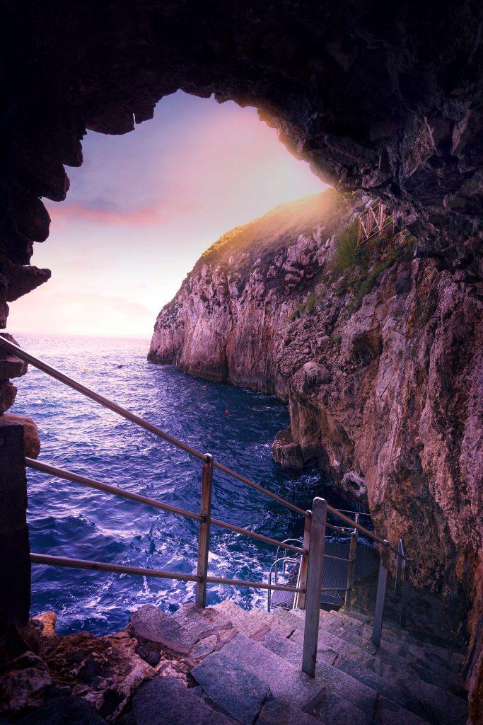 Blue Grotto in Italies Amalfi Coast
