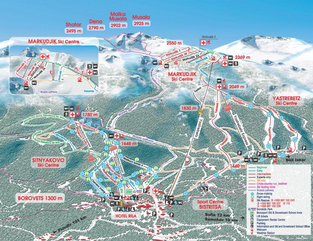 Ski resorts in Buglaria Borovets