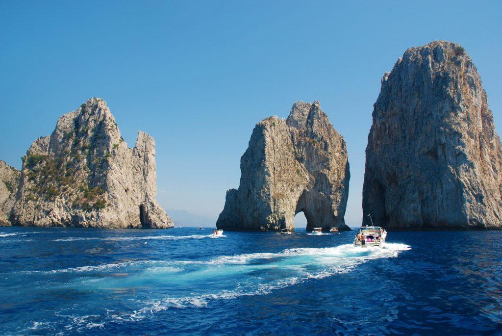 Faraglioni Rocks in Capri Italy