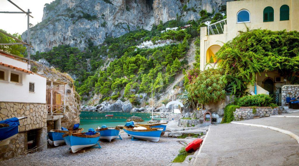 Marina Piccola in Capri Italy