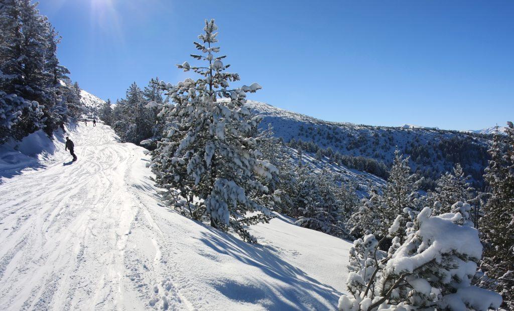 Snowboarding in Borovets Bulgaria