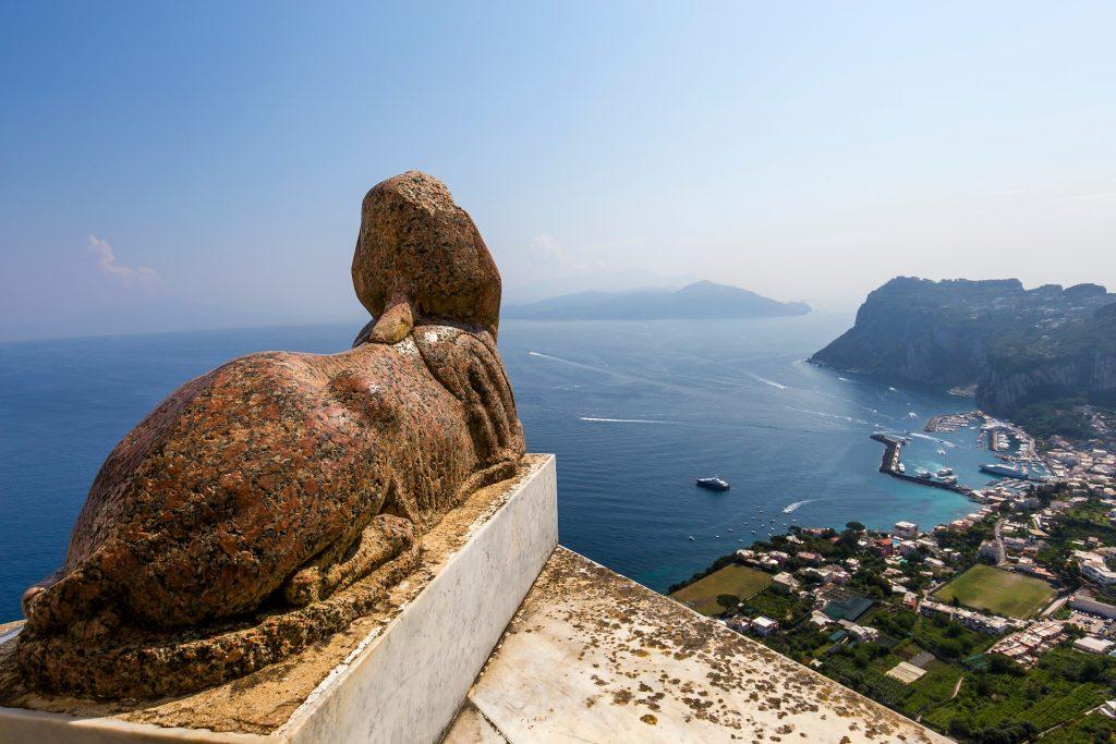 Villa San Michele Sphinx statue Capri Italy