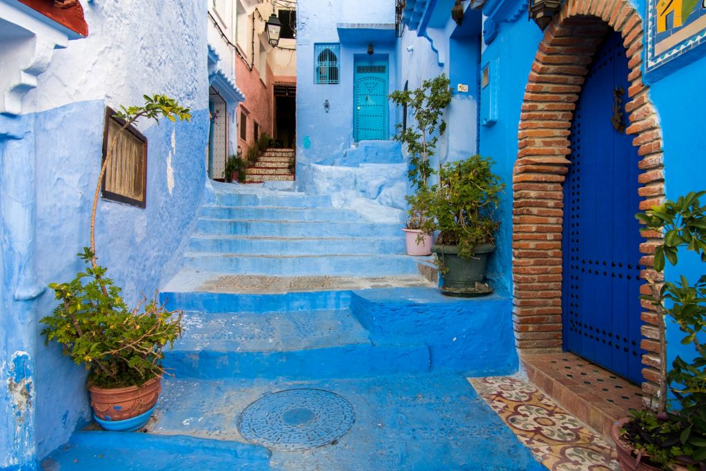 Walking into the Medina of Chefchaouen