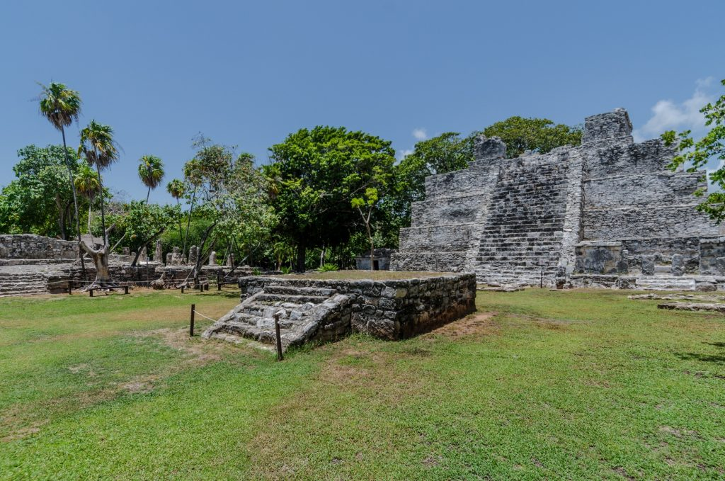 visiting cancun archaeological site