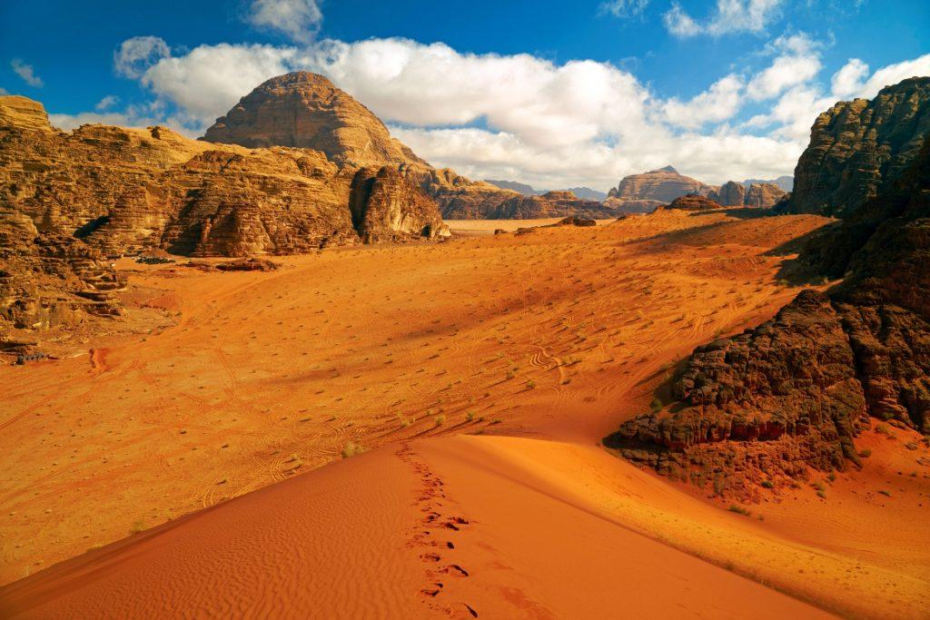 Wadi Rum desert while visitingJordan