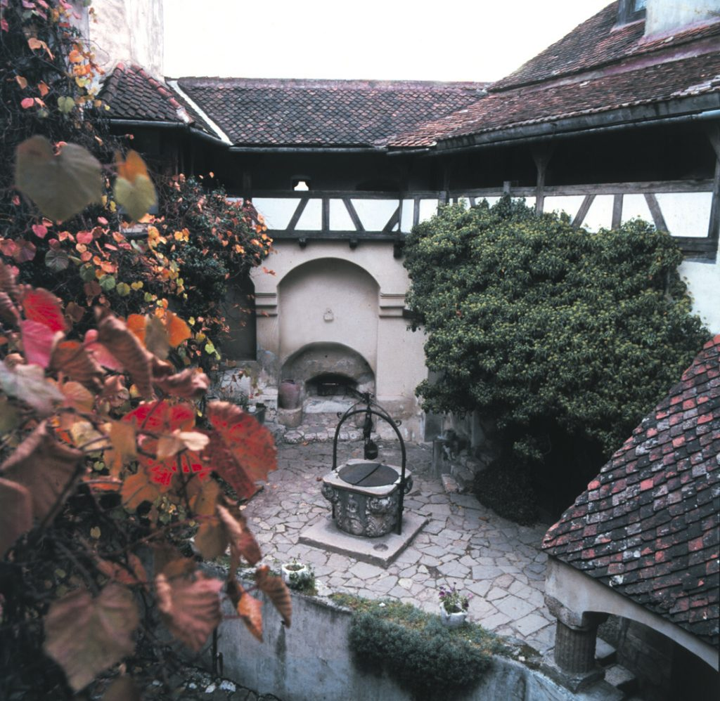 The interior yard of Bran Castle