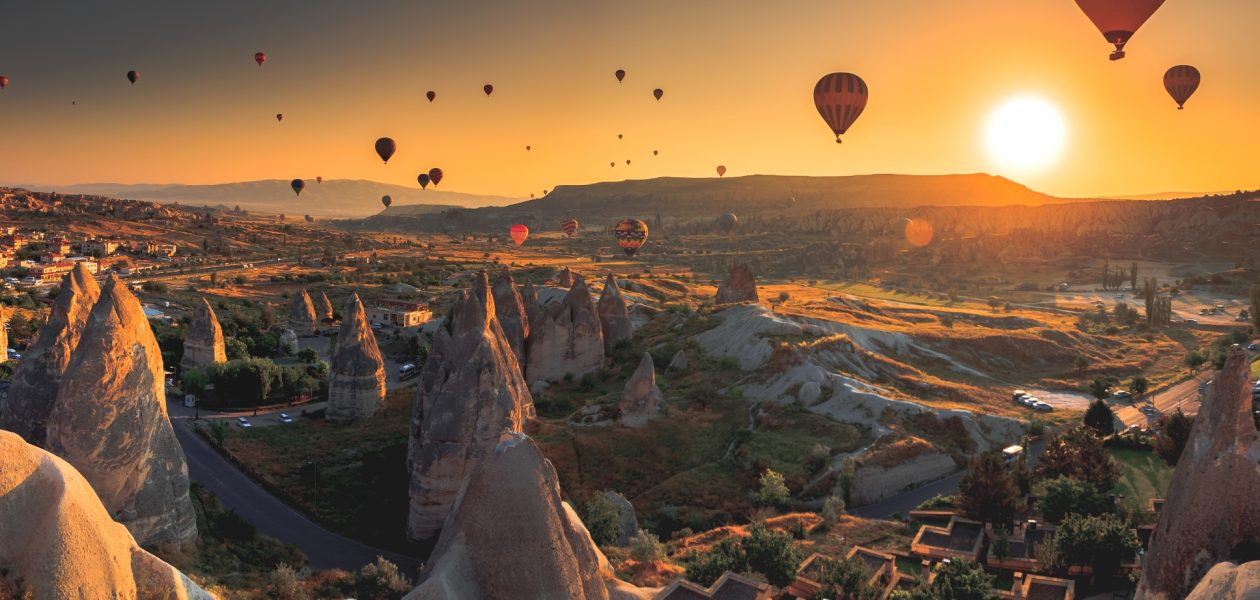 Trip to Cappadocia at sunset