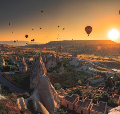 Trip to Cappadocia at sunset