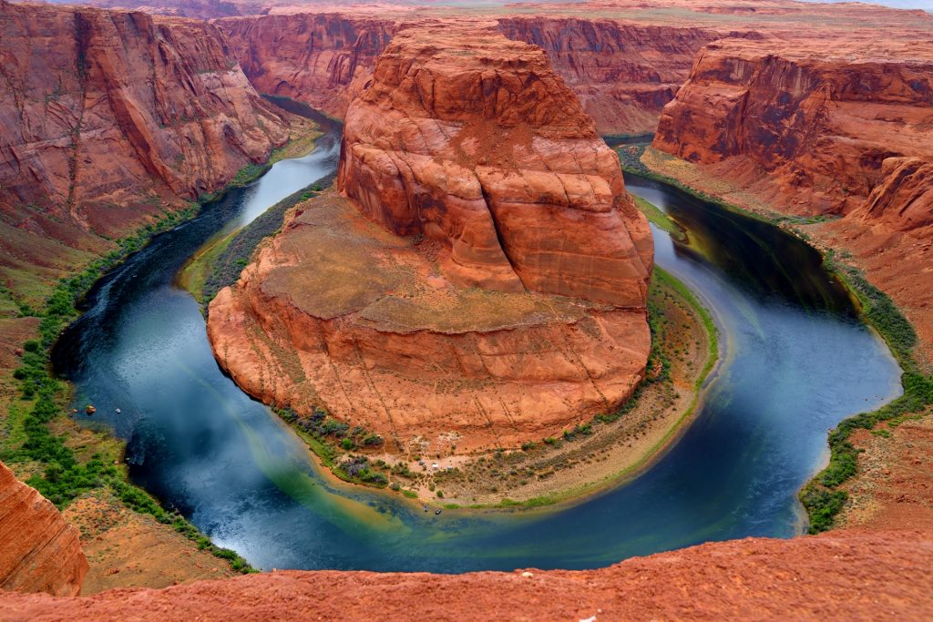 Horseshoe Bend on Colorado River in Glen Canyon, part of Grand canyon, Page, Arizona, USA