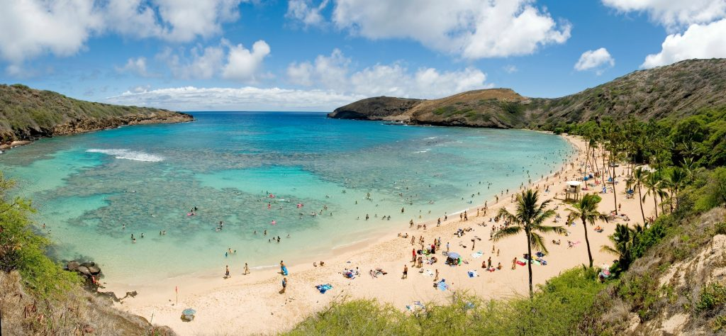 Short beach vacations in Hanauma Bay, Oahu