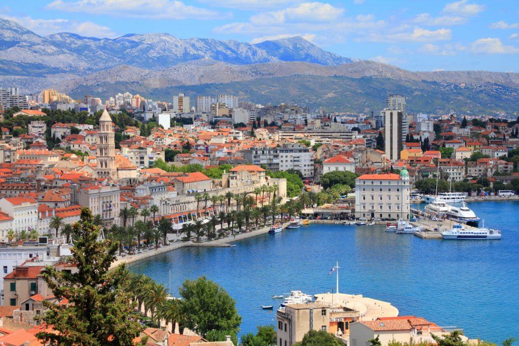 Scenic-view-of-Split-bay-in-Croatia