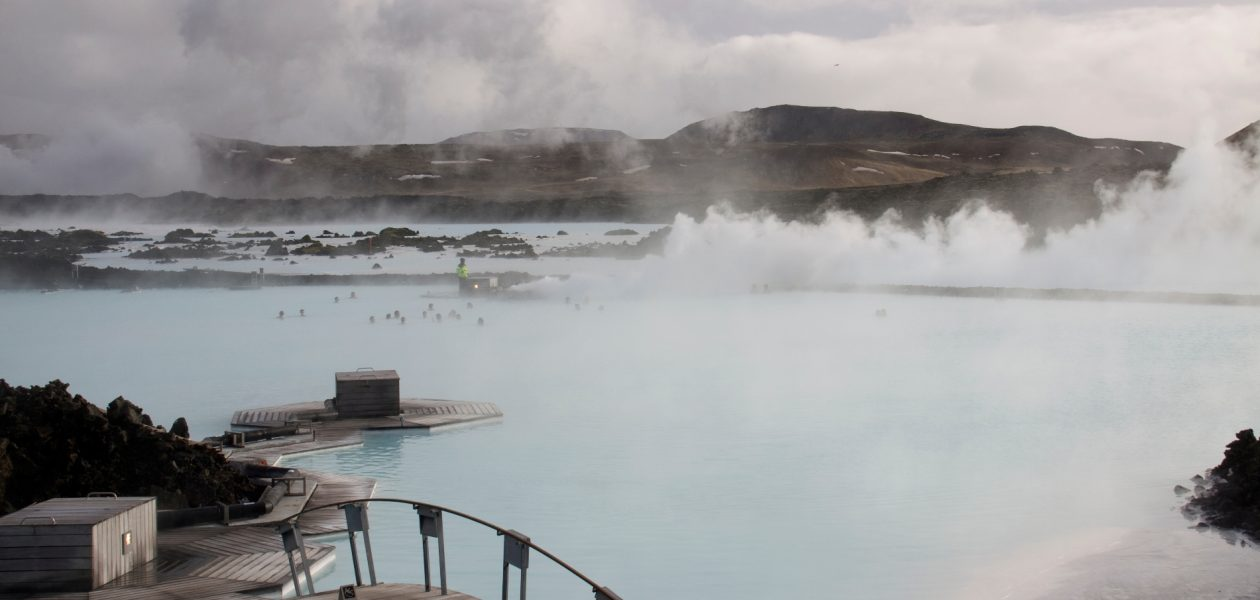 Hot spings in Iceland