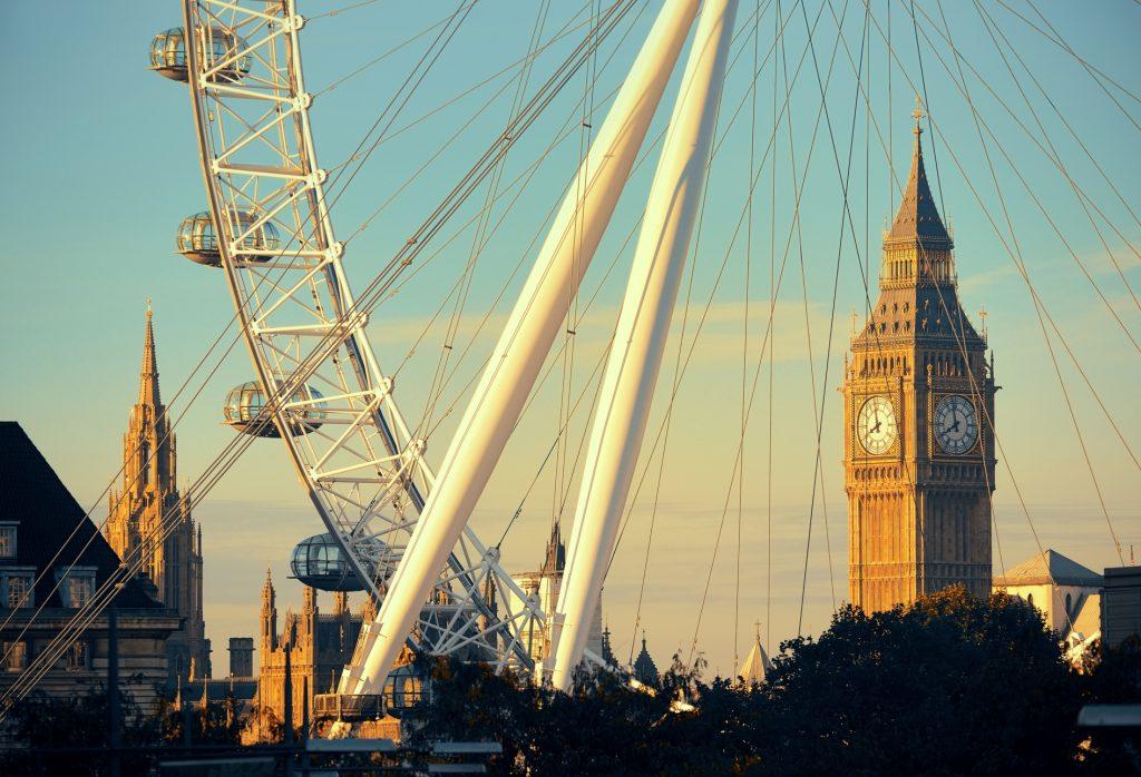 London eye and Big Ben non-beach vacations
