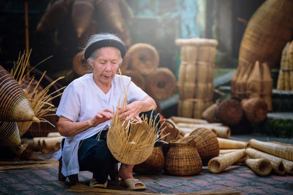 Bamboo craft in Hanoi Vietnam