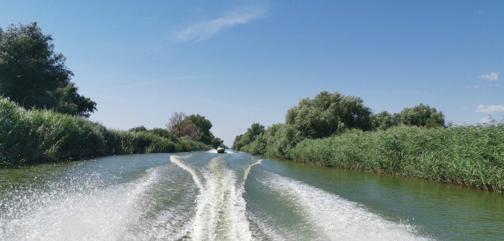 Boat ride on the Danube Romania