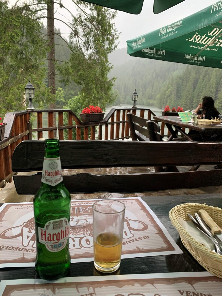 Local-beer-in-Harghita-at-the-Red-Lake